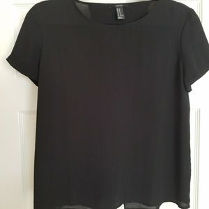 Forever 21 black chiffon blouse